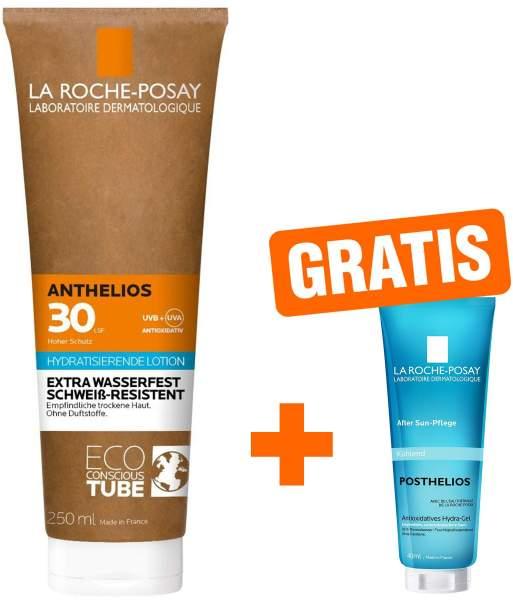 La Roche Posay Anthelios Milch LSF 30 Papp Tube 250 ml + gratis Posthelios 40 ml Gel