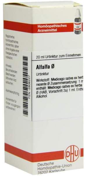 Alfalfa Urtinktur 20 ml Dilution