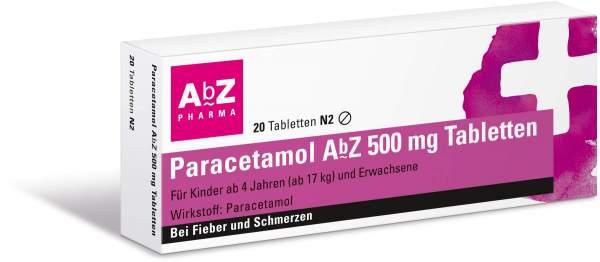Paracetamol Abz 500 mg 20 Tabletten