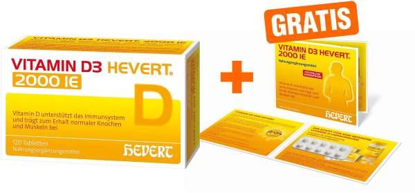 Vitamin D3 Hevert 2.000 I.E. 120 Tabletten + gratis 10 Tabletten