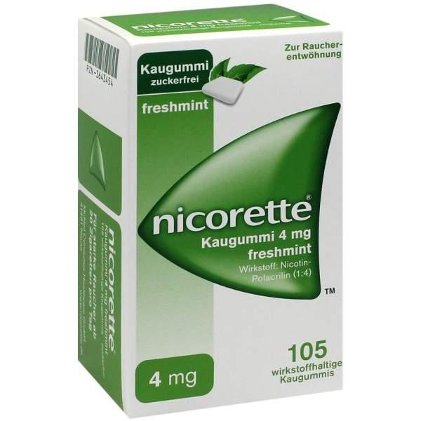 Nicorette 4 mg Freshmint Kaugummi 105 Stück