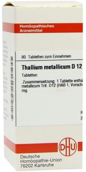 Thallium Metallicum D12 Tabletten 80 Tabletten