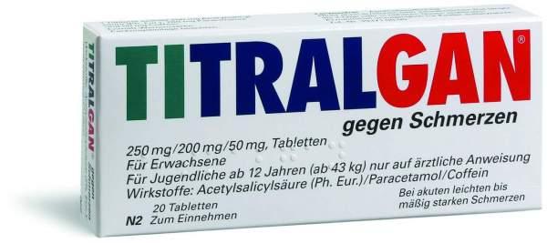 Titralgan gegen Schmerzen 20 Tabletten