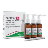 Alopexy 5% Lösung zur Anwendung auf der Haut 3 x 60 ml Lösung