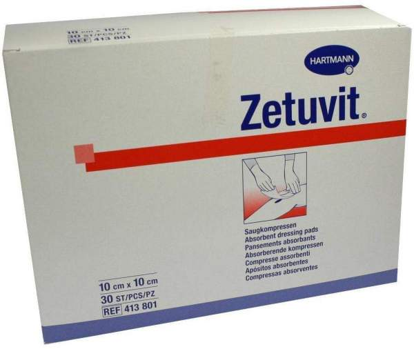 Zetuvit Saugkompresse unsteril 10 x 10 cm 30 Stück