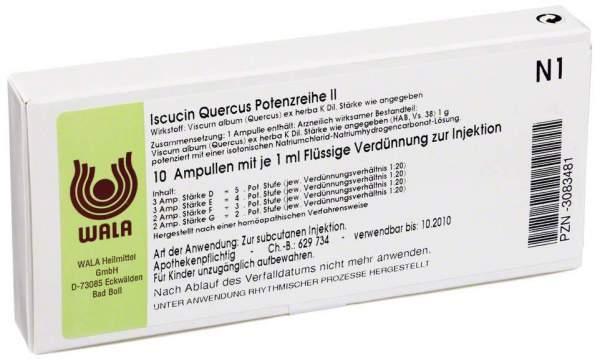 Iscucin Quercus Potenzreihe II Ampullen