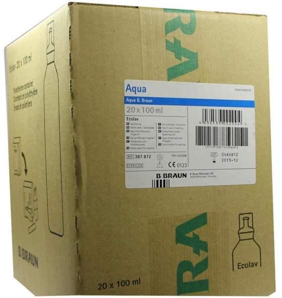 Aqua B.Braun Spüllösung Ecolav 20 X 100 ml