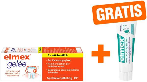 Elmex Gelee 25 g + gratis Sensitiv Professional 20 ml Zahnpasta