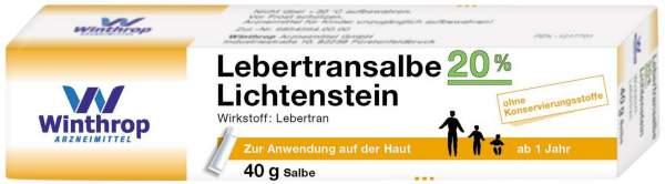 Lebertransalbe 20% Lichtenstein 40g