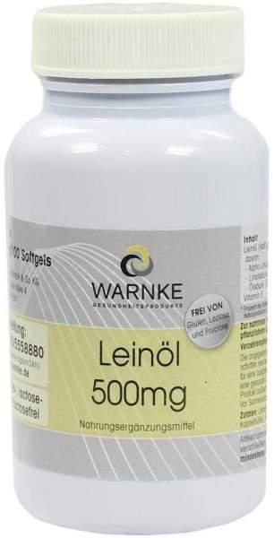 Leinöl 500 mg 100 Kapseln