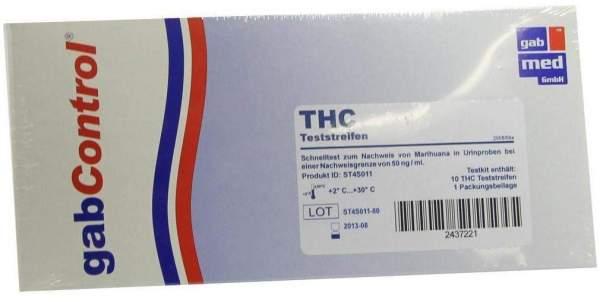 Gabcontrol Drogentest Thc 10 Teststreifen