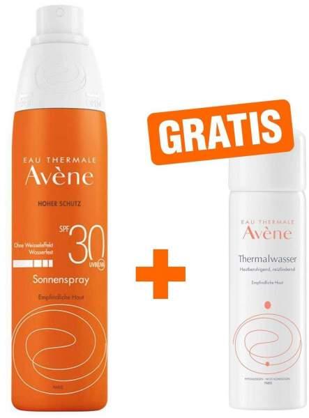 Avene Sunsitive Sonnenspray SPF 30 200 ml Spray + gratis Thermalwasser Spray 50 ml