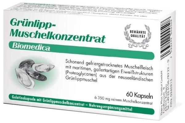 Grünlipp Muschelkonzentrat Biomedica 60 Kapseln