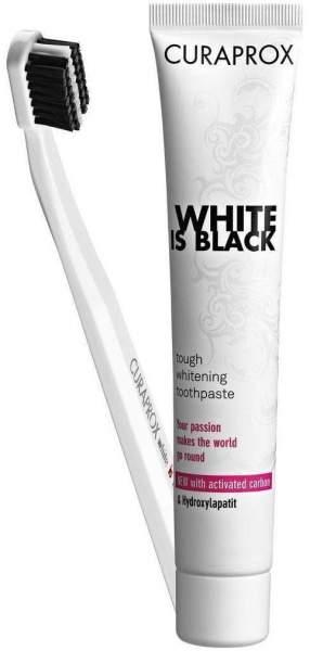 Curaprox White Is Black Kohlezahnpasta M