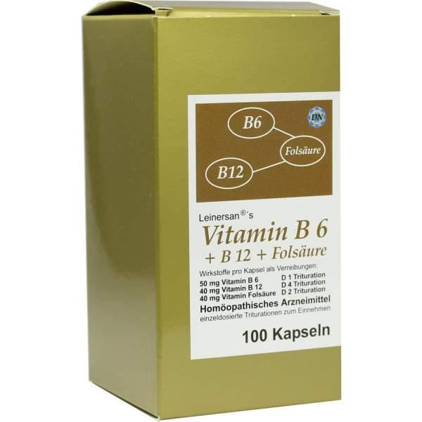 Vitamin B 6 + B 12 + Folsäure 100 Kapseln