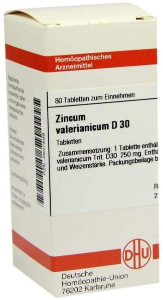 Zincum Valerianicum D 30 80 Tabletten