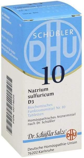 Biochemie Dhu 10 Natrium Sulfuricum D3 Tabletten 80 Tabletten