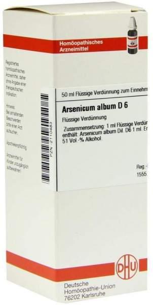 Arsenicum Album D6 Dilution 50 ml Dilution