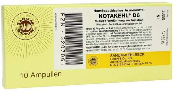 Notakehl D 6 10 X 1 Mlampullen