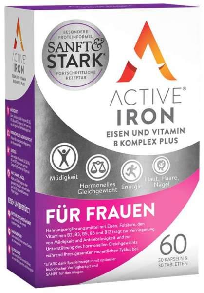 ActiveIron Eisen + Vitamin B Komplex plus für Frauen 30 Kapseln + 30 Tabletten