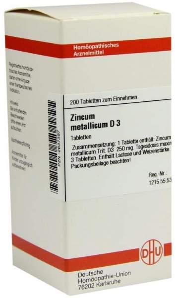 Zincum Metallicum D3 200 Tabletten