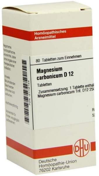 Magnesium Carbonicum D12 Tabletten 80 Tabletten