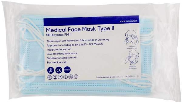 Mund-Nasen-Gesichtsmaske 3-lagig 5 x 5 Stück