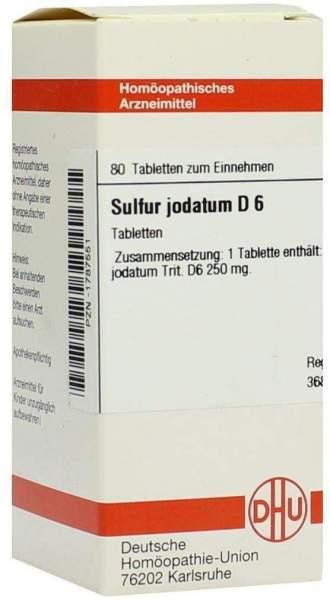 Sulfur Jodatum D6 Tabletten 80 Tabletten
