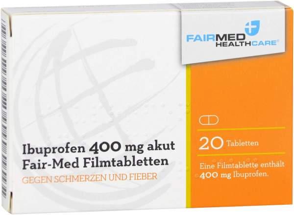 Ibuprofen 400 mg Akut Fair-Med Healthcare 20 Filmtabletten