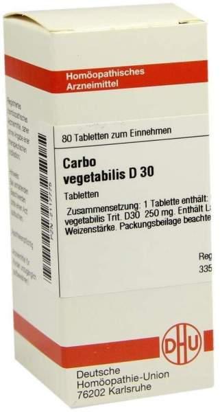 Carbo Vegetabilis D 30 Tabletten