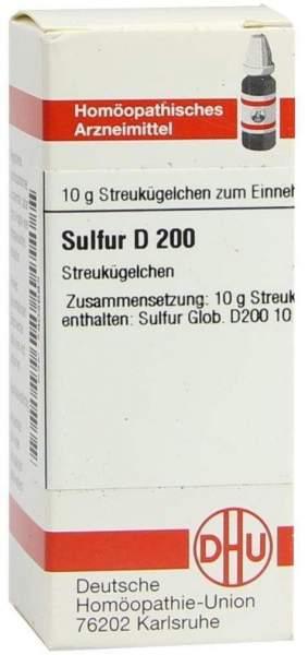 Sulfur D 200 10 G Globuli