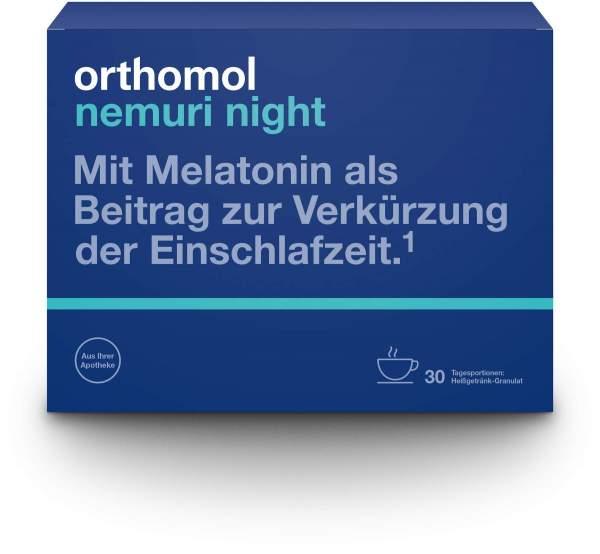 Orthomol nemuri night Granulat 30 x 10 g