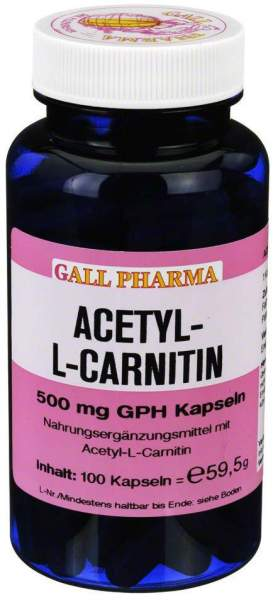 Acetyl-L-Carnitin 500 mg 100 Kapseln