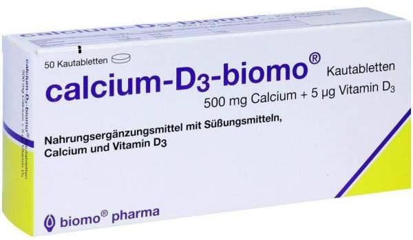 Calcium D3 Biomo Kautabletten 500 mg + Vitamin D 50 Kautabletten