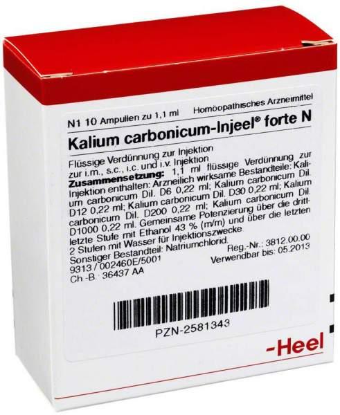 Kalium Carbonicum Injeel Forte N 10 Ampullen