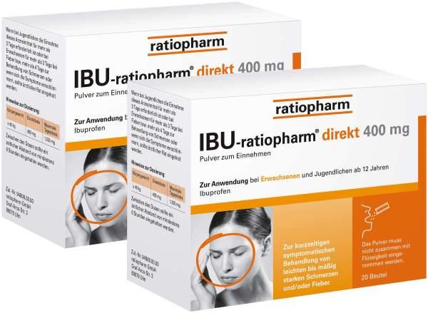 Ibu ratio direkt 400 mg 2 x 20 Beutel