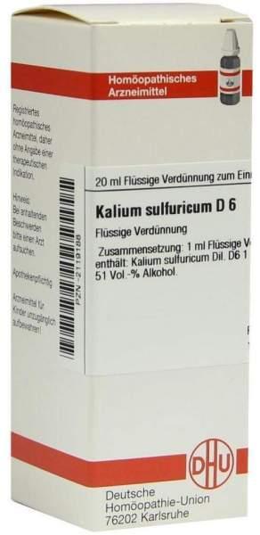 Kalium Sulfuricum D 6 Dilution