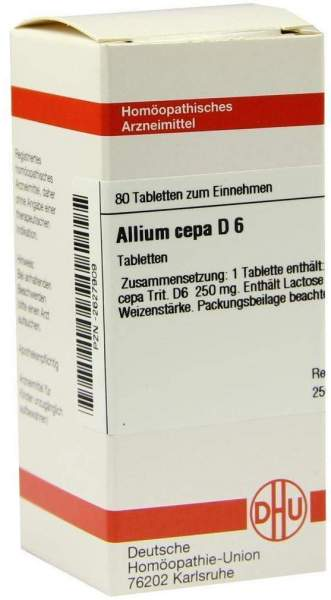Allium Cepa D6 Dhu 80 Tabletten