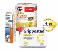 Sparset Grippostad 24 Hartkapseln & Nasenspray 10 ml & Heiße Zitrone 10 Beutel