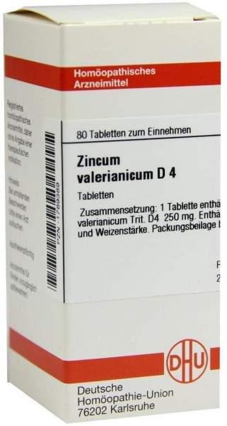 Zincum Valerianicum D4 Tabletten 80 Tabletten