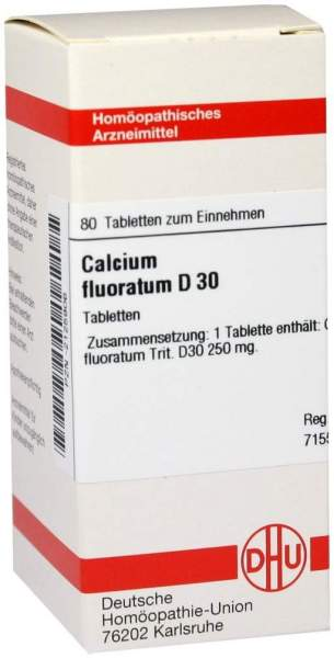 Calcium Fluoratum D 30 80 Tabletten