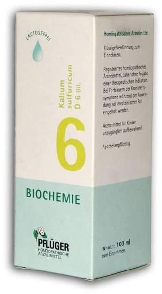 Biochemie Pflüger 6 Kalium sulfuricum D6 Dilution 100 ml Tropfen