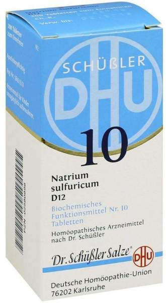 Biochemie Dhu 10 Natrium Sulfuricum D12 200 Tabletten
