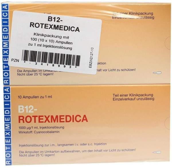 B12 Rotexmedica 100 X 1 ml Injektionslösung