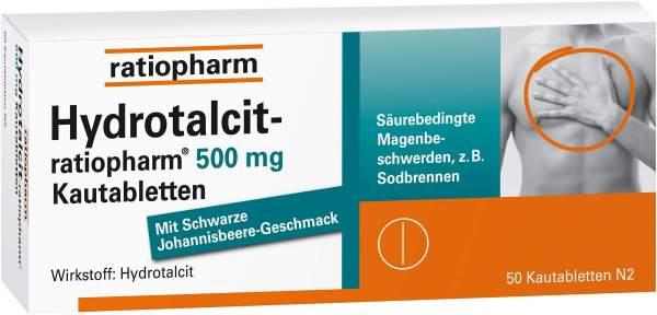 Hydrotalcit Ratiopharm 500 mg 50 Kautabletten