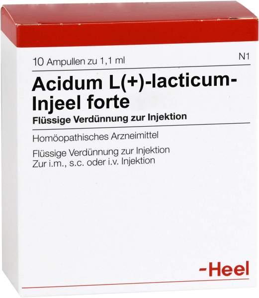 Acidum L(+)lacticum Injeele Forte 1,1 ml 10 Ampullen