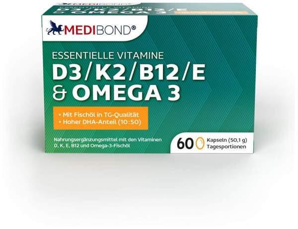 MEDIBOND D3, K2, B12, E & Omega 3