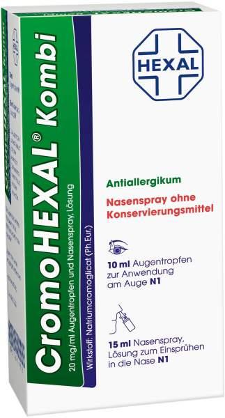 Cromohexal Kombi 10ml Augentropfen + 15ml Nasenspray
