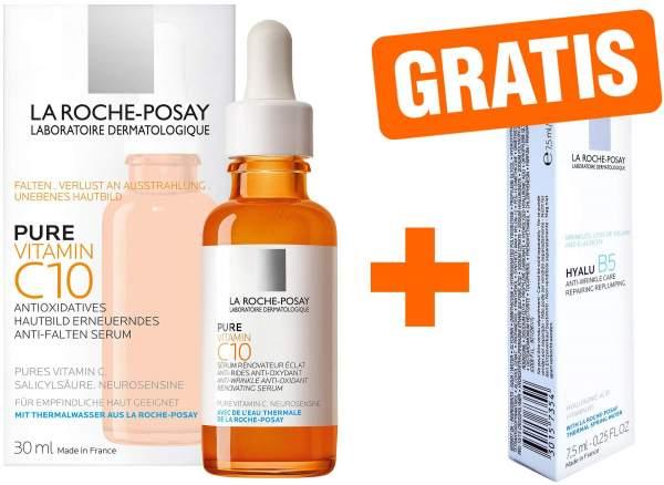 La Roche Posay pure Vitamin C Serum 30 ml + gratis Roche Posay Hyalu B5 Pflege 7,5 ml