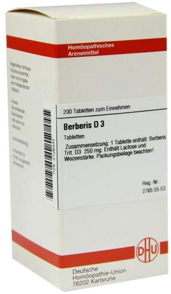 Berberis D3 200 Tabletten